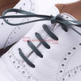 Yassı Mumlu Ayakkabı Bağı 1 Çift