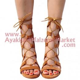 Yuvarlak Mumlu Ayakkabı Bağı 1 Çift