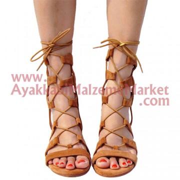 Yuvarlak Mumlu Ayakkabı Bağcığı 60 - 70 - 80 - 90 - 100 - 120 Cm (1 Çift)