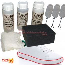 Derby Beyaz Spor Ayakkabı Temizleme Seti - 8 Parça