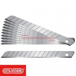 Ceta Form J46-R Maket Bıçağı - Falçata Yedeği - 9 mm (100 Adet / Kutu)
