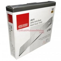 Ceta Form J45-R Maket Bıçağı - Falçata Yedeği - 18 mm (10 Adet / Paket)