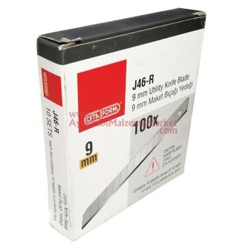 Ceta Form J46-R Maket Bıçağı - Falçata Yedeği - 9 mm (10 Adet / Paket)