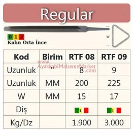 "Ağaç Saplı Esaş Eğe - Limaki - 8"" - 200 mm (1 Adet)"
