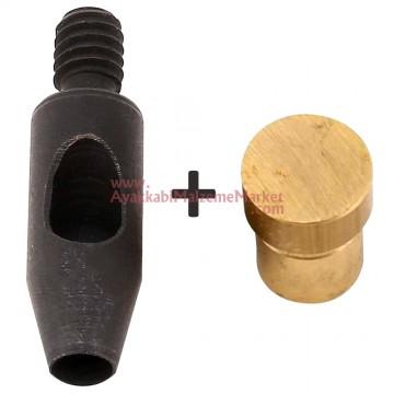 Padava - 9 mm Yuvarlak Zımba Makine Kalıbı ve Pirinç Tabla