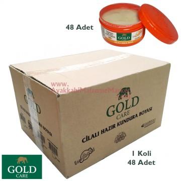 Gold Care Krem Boya Süngersiz 200 ml - Parlatıcı  (48 Adet / Koli)