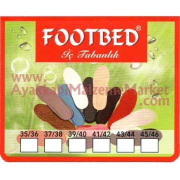 FootBad 3 Kat Süngerli Bezli Ortopedik Taban