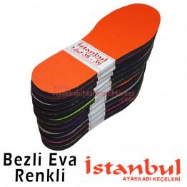 İstanbul Taban Bezli Eva - Renkli (12 Çift / Düzine)