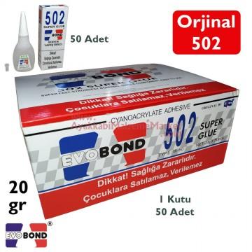 Evo Bond 502 Super Glue Süper Yapıştırıcı 20gr (Orjinal) (50 Adet)