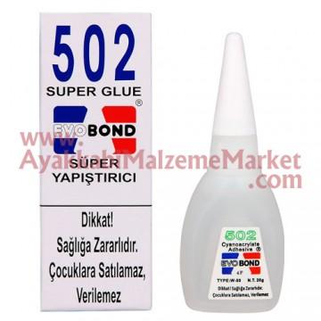 Evo Bond 502 Super Glue Süper Yapıştırıcı 20gr (Orjinal)