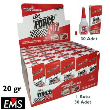 EMS FORCE 801 20 gr Hızlı Yapıştırıcı (30 Adet / Kutu)