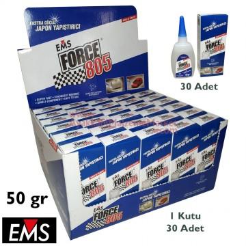 EMS FORCE 805 50 gr Hızlı Yapıştırıcı (30 Adet / Kutu)