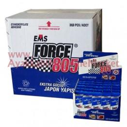 EMS FORCE 805 20 gr Hızlı Yapıştırıcı (360 Adet / 12 Kutu / Koli)