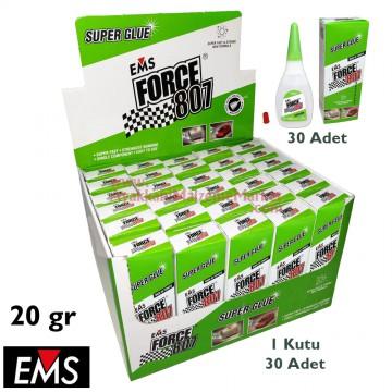 EMS FORCE 807 20 gr Hızlı Yapıştırıcı (30 Adet / Kutu)