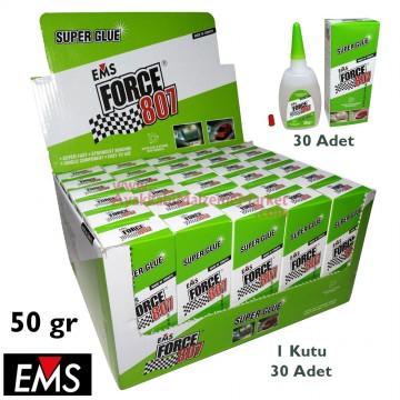EMS FORCE 807 50 gr Hızlı Yapıştırıcı (30 Adet / Kutu)