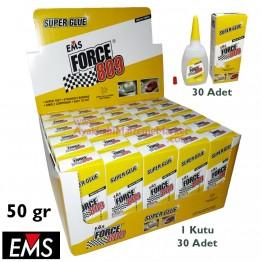 EMS FORCE 809 50 gr Hızlı Yapıştırıcı (30 Adet / Kutu)