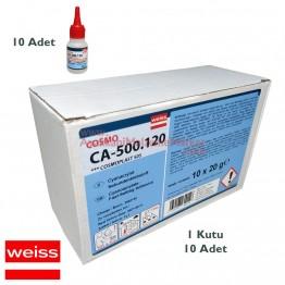 Weiss COSMO Elastik Yapıştırıcı 20 ml (10 Adet / Kutu)