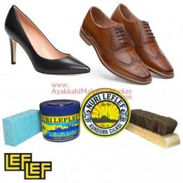 Deri Ayakkabı Bakım Seti - 4 Parça (Leflef)