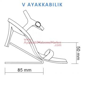 V Ayakkabı Teşhiri - Şeffaf - 20 Adet