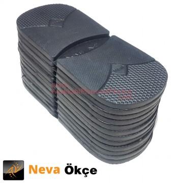 Neva N-2 Düz Ökçe Lastiği - Siyah (1 Düzine)
