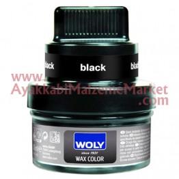 Woly 1470 Cam Deri Boyası (Wax) Siyah