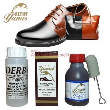 Deri Ayakkabı Renk Değiştirme Seti  - 3 Parça